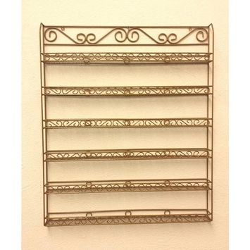 Pana Black 6 Tier Large Wall Mounted Metal Rack - Fit up to 100 Nail Polish Bottles - For Home Salon Business Spa etc..