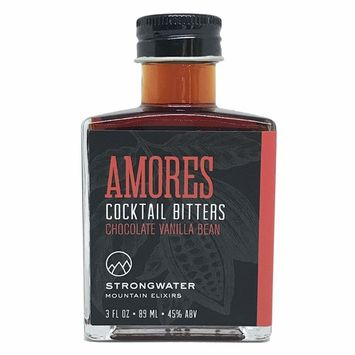 Strongwater | Amores Cocktail Bitters - Chocolate Vanilla Bean (3oz) | Great for Pairing with Bourbon, Whiskey, Vodka, Tequila, Champagne, Teas, Desserts & More