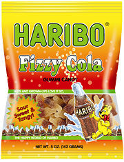 HARIBO Fizzy Cola Gummi Candy