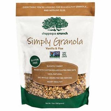 Chappaqua Simply Granola - Vanilla and Flax - Case of 6 - 12 oz.