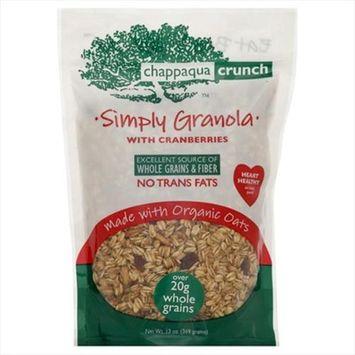 Chappaqua Crunch Granola Chappaqua Crunch Simply Granola with Cranberries, 13 oz Pouches, 6 pk
