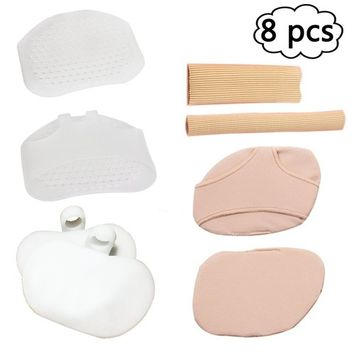 Metatarsal Pads For High Heel,POVAD Metatarsal Pads Kits,Breathable Soft Womens Ball of Foot Pads,Foot Cushions Gel Forefoot Inserts Toe Straightener,Prevent Callus and Blisters For Men and Women