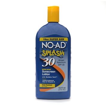NO-AD Splash Watersport Sunscreen Lotion SPF 30