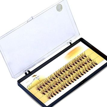 Bluelans Pro Makeup 60 Cluster Individual Lashes False Eyelashes Extension Natural Black 14mm