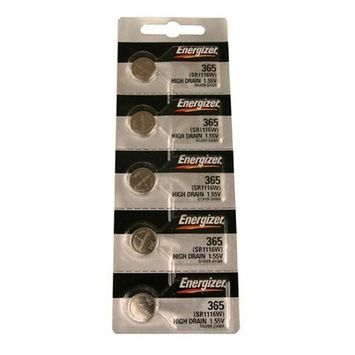 Energizer 365 Button Cell Silver Oxide SR1116W Watch Battery Pack of 5 Batteries