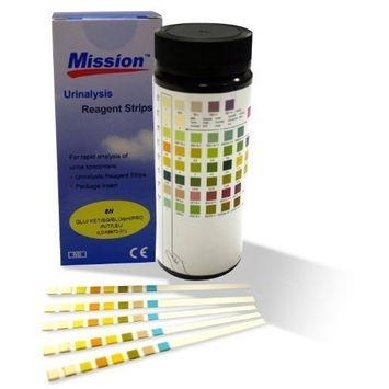 Urine Test Strips Mission 10 Parameter Urinalysis - Strips by Mission