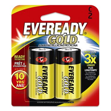2 Pack of C Eveready Gold Batteries