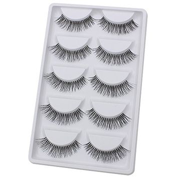 Bluelans 5 Pairs Long Fake Eye Lash False Eyelashes Extension Makeup