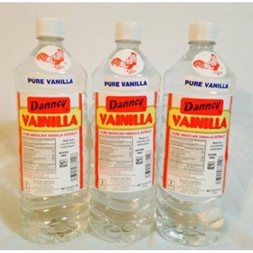 3 X Danncy Clear Pure Mexican Vanilla Extract From Mexico 33oz Each 3 Plastic Bottle Lot Sealed