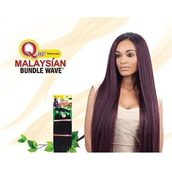 Que MALAYSIAN IRONED TEXTURE 7PCS (22/24/26) Human Hair Blended Weave