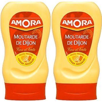 Amora Strong Dijon Mustard from France - 2 plastic bottles - 265 grams each