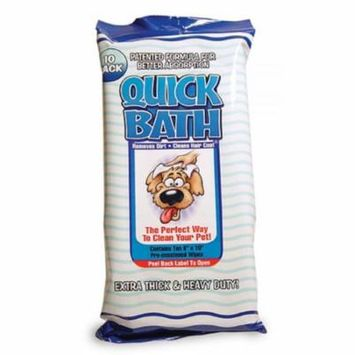 International Vet Quick Bath Wipes for Dogs 10 Long x 8 Wide (10 Pack) - Pack of 10