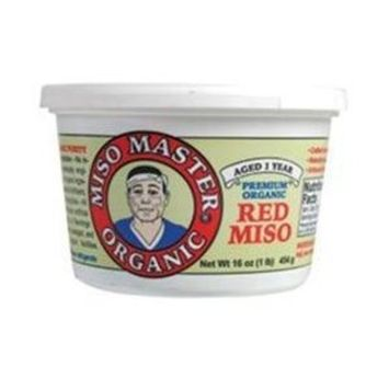 Miso Master, Miso,organic 2,traditional Red/domestic, 16 Oz (Pack of 6)