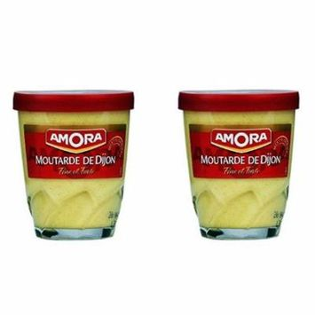 Amora Dijon Mustard (Moutarde de Dijon) from France, 2-Pack of 150g Jars