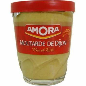 Amora Moutarde De Dijon Fine et Forte - Fine French Strong Dijon Mustard, 5.3oz (24-Pack)