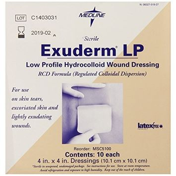 Medline Dressing Exuderm Thin Hdrocolloid 4