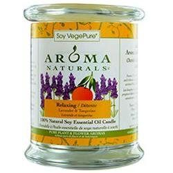 RELAXING AROMATHERAPY by Relaxing Aromatherapy ONE 3.7x4.5 inch MEDIUM GLASS PILLAR SOY AROMATHERAPY CANDLE. COMBINES THE ESSENTIAL OILS OF LAVENDER AND TANGERINE TO CREATE A FRAGRANCE THAT REDUCES STRESS. BURNS APPROX. 45 HRS for UNISEX