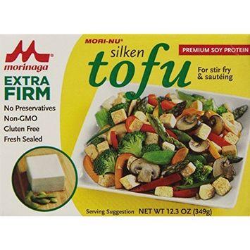 Mori Nu Mori-Nu Tofu, Silken Style, Extra Firm, 12.3-Ounce Boxes (Pack of 12)