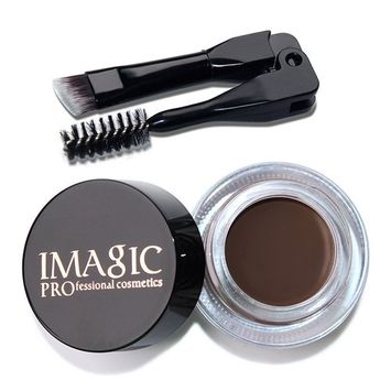IMAGIC Long Lasting EyeBrow Gel Cream,Waterproof Eyebrow Enhancers Makeup + Brush by Fenleo