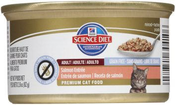 Hill's Science Diet Salmon Entree Canned Cat Food, Case of 24