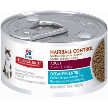Science Diet Adult Hairball Control Canned Cat Food - Savory Seafood