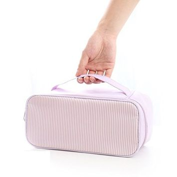 Huluwa Toiletry Bag, Multifunction Cosmetic Bag, Portable Makeup Pouch Waterproof Travel Closet Organizers Bra Underwear Storage Bag for Women Girls, Purple
