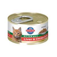 Hill's Science Diet Healthy Development Liver & Chicken Entrée Canned Kitten Food (3 oz.; Liver & Chicken; Case of 24)