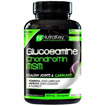 NutraKey Glucosamine Chondroitin MSM Capsules, 120 Count
