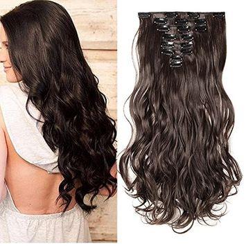 Clip in Hair Extensions Full Head 17
