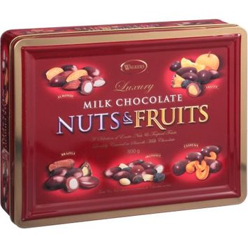 Liberty Richter, Inc. Walkers Luxury Milk Chocolate Nuts & Fruits Holiday Gift, 800g