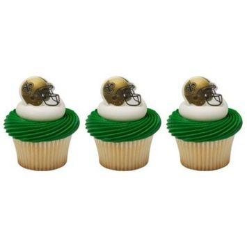 Decopac NFL New Orleans Saints Cupcake Rings 24
