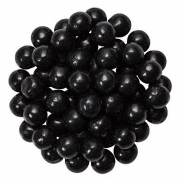 Black Edible Candy Pearls - Great for cupcakes, cookies, cake pops - 4 oz