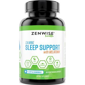 Zenwise Health Sleep Aid Support, 5-HTP + Chamomile & Melatonin, 60 Ct