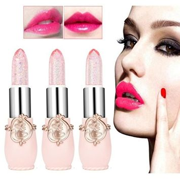 CYCTECH 6 Colors Moisturizer lipsticks Set Beauty Bright Flower Crystal Jelly Lips Magic Temperature Change Color Smooth Charming Cosmetic Balm Makeup