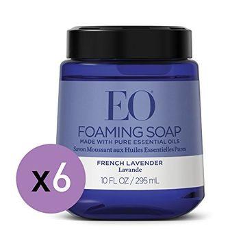 EO French Lavender Foaming Hand Soap, 10 Fl. Oz. Foam Cartridge (6 Pack)