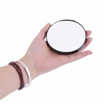 Black 10X Magnifying Glass Cosmetics Mirror With Suction Cups Beauty Makeup Tool on Clearance,black