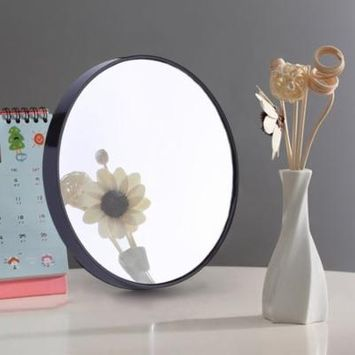 10X Magnifying Glass Cosmetics Mirror With Suction Cups Beauty Makeup Tool,black