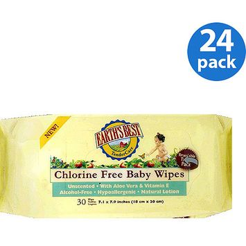 Earths Best Earth's Best Tendercare Chlorine Free Baby Wipes 24 Pack