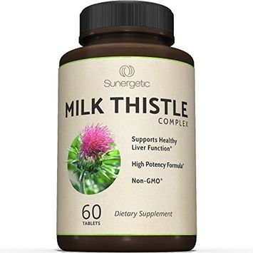Premium Milk Thistle Complex For Natural Liver Support - Standardized Silymarin Content For Detox and Cleanse- Powerful Milk Thistle Extract & Seed Powder For Maximum Health - 60 Tablets