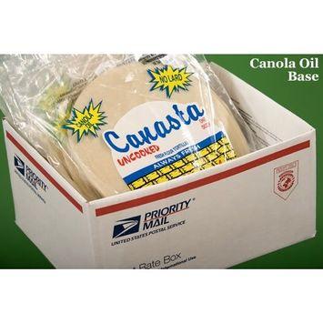 Canasta Uncooked Flour Tortillas, Canola Oil Base (10 Packs, 1 Dozen Per Pack)