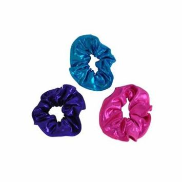 Obersee Kids' Pink/ Purple/ Turquoise Hair Tie (Pack of 3)