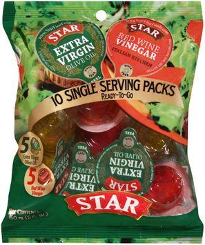 Star® Extra Virgin Olive Oil & Red Wine Vinegar 10 ct Single Serving Packs