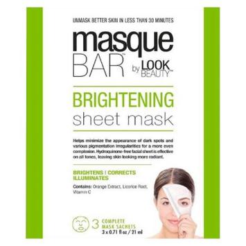 Masque Bar by Look Beauty Brightening Sheet Mask - 3 Mask Sachets