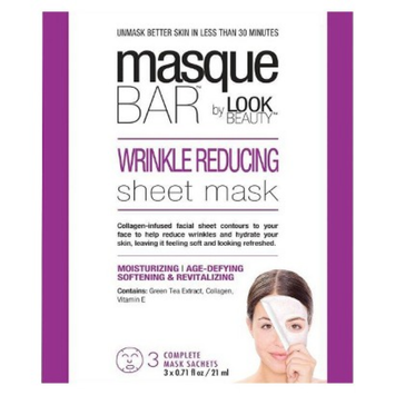 Masque Bar by Look Beauty Wrinkle Reducing Sheet Mask - 3 Mask Sachets