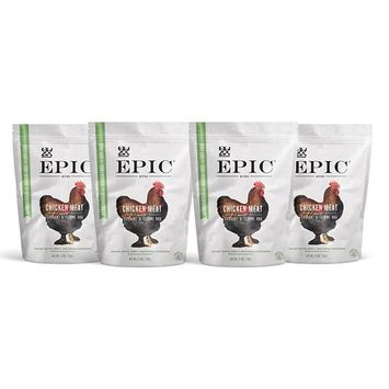 Epic Jerky Bites, 100% Natural, Chicken, Currant & Bbq, 2.5 ounce, Pack of 4 [Currant & BBQ (Chicken)]