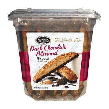 Nonni's Biscotti Value Pack, Cioccolati Dark Chocolate Almond, 25 Count, 1.3 Pound [Cioccolati]