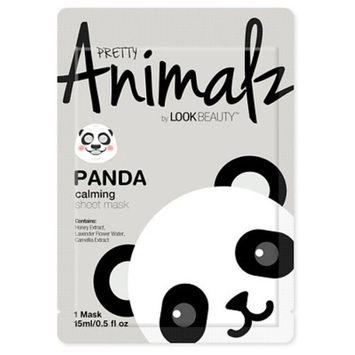 Look Beauty™ Pretty Animalz Panda Print Facial Sheet Mask 1 Count