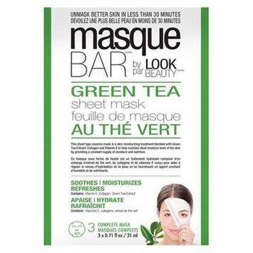 Masque Bar by Look Beauty Green Tea Face Sheet Mask - 3 ct