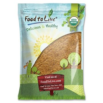 Food To Live ® Certified Organic Whole Golden Flaxseed (Raw, Non-GMO, Bulk Flax Seed) (8 Pounds)