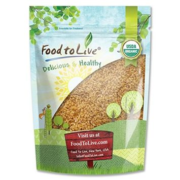 Food To Live ® Certified Organic Whole Golden Flaxseed (Raw, Non-GMO, Bulk Flax Seed) (2 Pounds)